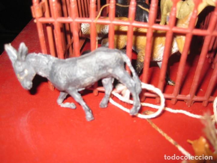 Figuras de Goma y PVC: figuras circo jecsan jaula vallado oso trapecistas leon perro foca animales asno lobo - Foto 4 - 164979622