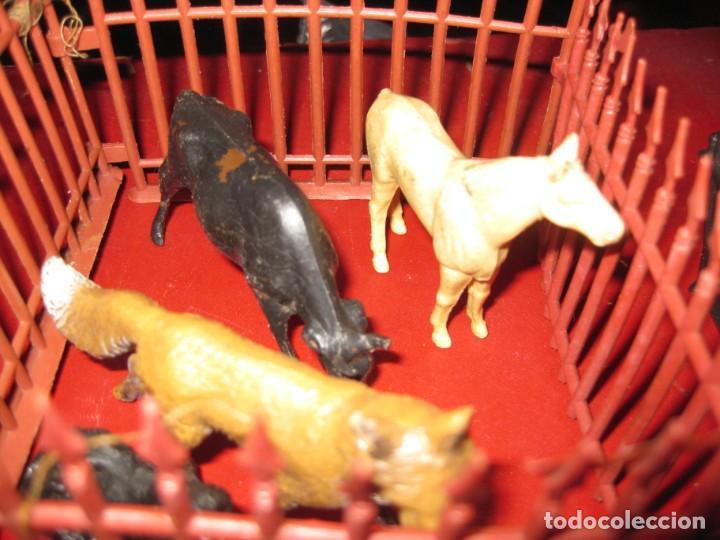 Figuras de Goma y PVC: figuras circo jecsan jaula vallado oso trapecistas leon perro foca animales asno lobo - Foto 5 - 164979622