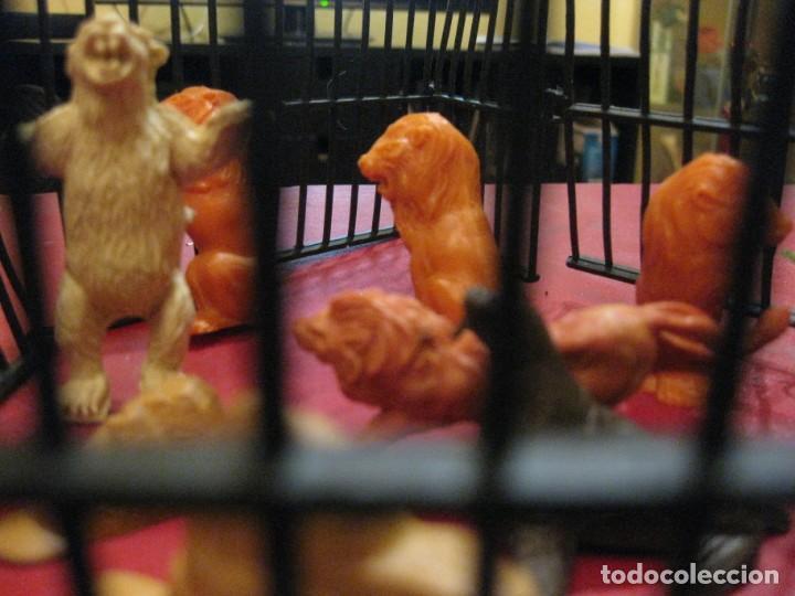 Figuras de Goma y PVC: figuras circo jecsan jaula vallado oso trapecistas leon perro foca animales asno lobo - Foto 7 - 164979622