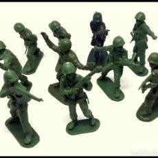 Figuras de Goma y PVC: LOTE 10 SOLDADOS MADE IN HONG KONG. Lote 165017174