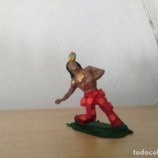 Figuras de Goma y PVC: INDIO HERIDO PVC REAMSA. Lote 165246958