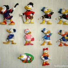 Figuras de Goma y PVC: LOTE 10 FIGURAS DE GOMA PVC PATO DONALD, DAISY Y GILITO DE MARCAS COMO BULLY O MAIA BORGES. Lote 165319010