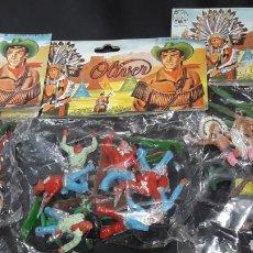Figuras de Goma y PVC: BOLSA SIN ABRIR VAQUEROS OESTE OLIVER. Lote 165326921