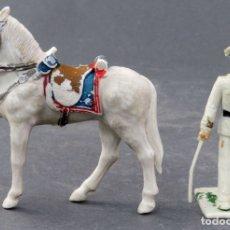 Figuras de Goma y PVC: OFICIAL MARINA REAMSA CON CABALLO GUARDIA MUNICIPAL PLÁSTICO AÑOS 70. Lote 165346434