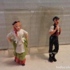 Figuras de Goma y PVC: 2 FIGURAS DE PLÁSTICO PAREJAS REGIONALES JECSAN. Lote 165638014