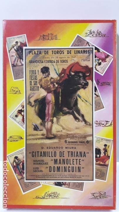 Figuras de Goma y PVC: CAJA ORIGINAL DE TOREROS Y TOROS . REALIZADA POR PECH . AÑOS 60 - Foto 3 - 165709130