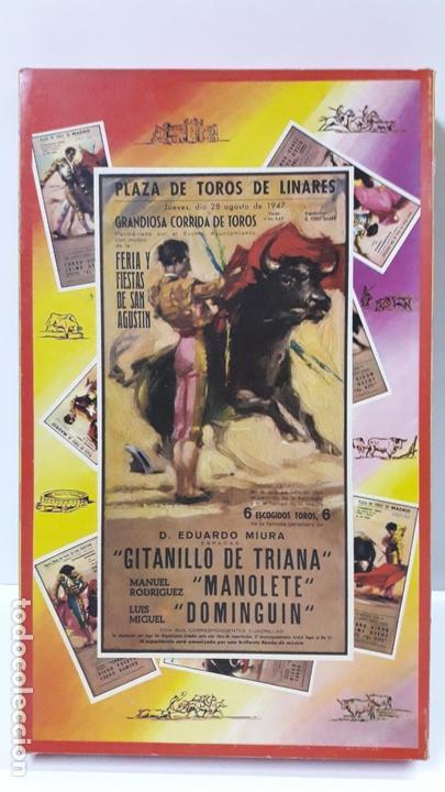 CAJA ORIGINAL DE TOREROS Y TOROS . REALIZADA POR PECH . AÑOS 60 (Juguetes - Figuras de Goma y Pvc - Pech)