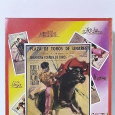 Figuras de Goma y PVC: CAJA ORIGINAL DE TOREROS Y TOROS . REALIZADA POR PECH . AÑOS 60. Lote 165709130