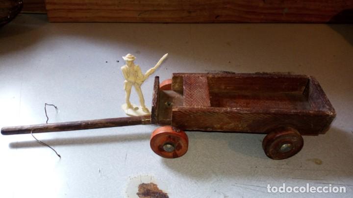 Figuras de Goma y PVC: CARRETA EN MADERA DE ALCA/CAPELL - Foto 2 - 165784406