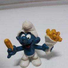 Figuras de Goma y PVC: FIGURA GOMA PITUFO SCHLEICH PEYO 1980. Lote 165836366