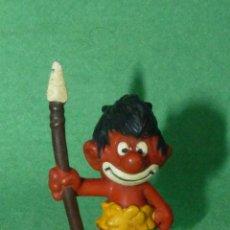 Figuras de Goma y PVC: FIGURA PITUFO SWOOFS GOMA SCHLIPS PERSONAJE SMURFS PEYO BULLY GERMANY VINTAGE. Lote 165888202