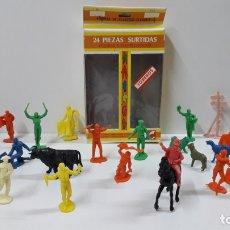 Figuras de Goma y PVC: CAJA DE TOREROS - REF 532 . REALIZADA POR JECSAN . AÑOS 60 / 70. Lote 166012350