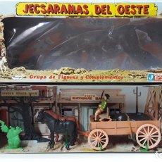 Figuras de Goma y PVC: CARRETA DE CARGA . JECSARAMAS DEL OESTE - REF 328 . REALIZADA POR JECSAN . AÑOS 60 / 70. Lote 166013550