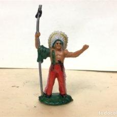 Figuras de Goma y PVC: FIGURA INDIO REAMSA JEFE INDIO CAMPAMENTO OESTE WESTERN . Lote 146046598