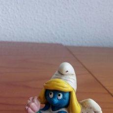 Figuras de Goma y PVC: FIGURA PVC PITUFINA ANGEL. PEYO SCHLEICH.. Lote 166262642