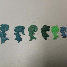Figuras de Goma y PVC: DUNKIN REGALO PROMOCIONAL DE PIPAS CHURRUCA O PASTELITOS FAMILIA TELERIN AÑOS 60. Lote 166342402