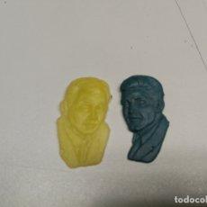 Figuras de Goma y PVC: DUNKIN FIGURA REGALO DE PIPAS CHURRUCA , ACTOR SIMON TEMPLAR EL SANTO Y 007 JAMES BOND AÑOS 60. Lote 166342726