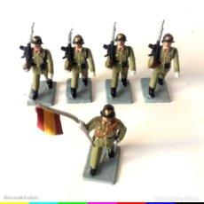 Figuras de Goma y PVC: 5 FIGURAS - SOLDIS - INFANTERÍA ESPAÑOLA - GOMARSA REAMSA - IMPECABLES. Lote 166465946