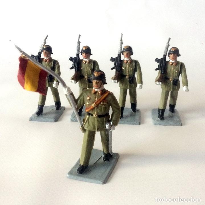 Figuras de Goma y PVC: 5 FIGURAS - SOLDIS - INFANTERÍA ESPAÑOLA - GOMARSA REAMSA - IMPECABLES - Foto 2 - 166465946