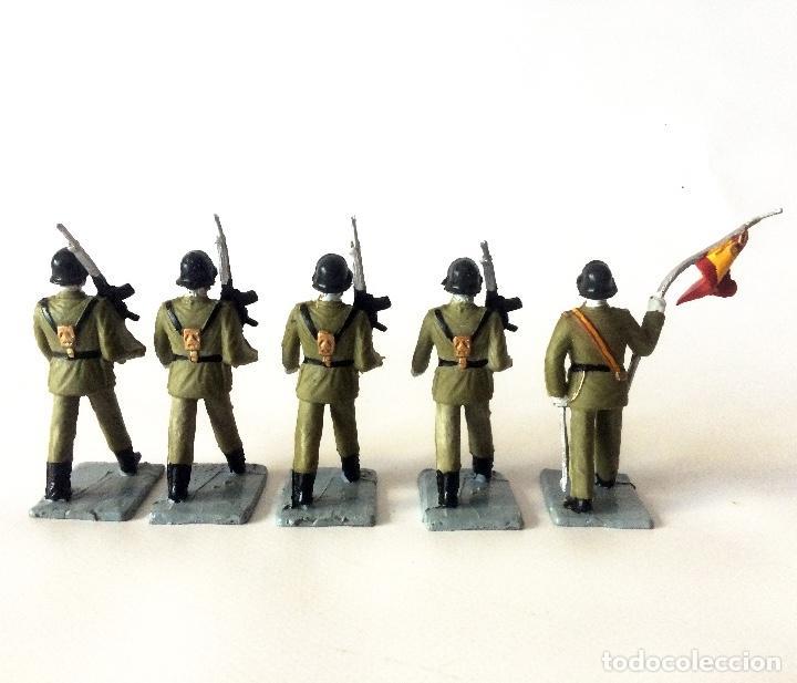 Figuras de Goma y PVC: 5 FIGURAS - SOLDIS - INFANTERÍA ESPAÑOLA - GOMARSA REAMSA - IMPECABLES - Foto 4 - 166465946
