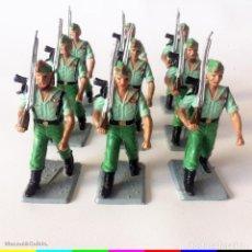 Figuras de Goma y PVC: 8 FIGURAS - SOLDIS - LEGIONARIOS - GOMARSA REAMSA - IMPECABLES. Lote 166466158