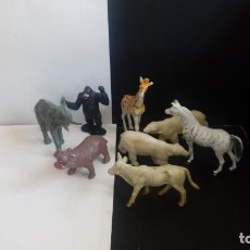 Figuras de Goma y PVC: FIERAS ZOO SELVA ANIMAL BRITAINS MONO/GORILA OSOS JIRAFA CEBRA CEBU ELEFANTE HIPOPÓTAMO AÑOS 70 PTOY. Lote 51478579