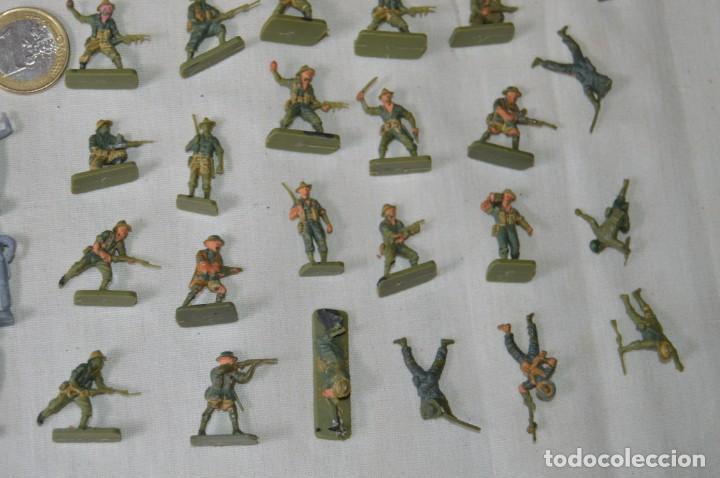 Figuras de Goma y PVC: Sobre 68/70 FIGURAS / MILITARES - Soldados tamaño similar MONTAPLEX - Sin identificar marca Años 60 - Foto 5 - 166515194