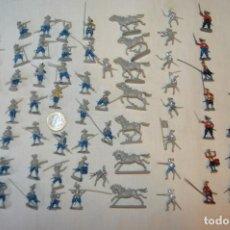 Figuras de Goma y PVC: SOBRE 65 FIGURAS / MILITARES - SOLDADOS TAMAÑO SIMILAR MONTAPLEX - SIN IDENTIFICAR MARCA AÑOS 60. Lote 166555694