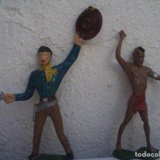 Figuras de Goma y PVC: VAQUERO Y INDIO DE COMANSI . Lote 166563978