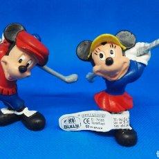 Figuras de Goma y PVC: FIGURAS PVC MICKEY Y MINNIE GOLFISTAS BULLY. Lote 166600325