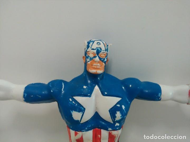 Figuras de Goma y PVC: Figura flexible del Capitán América © 92 MARVEL, COMICS SPAIN - Foto 2 - 166772050