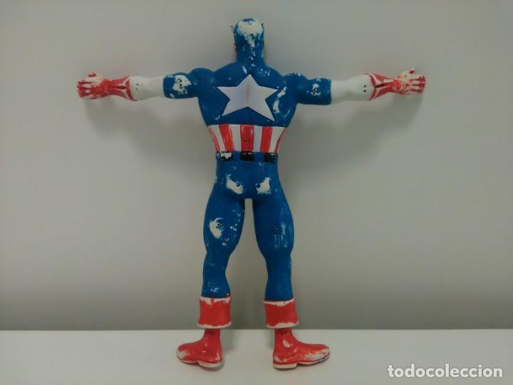 Figuras de Goma y PVC: Figura flexible del Capitán América © 92 MARVEL, COMICS SPAIN - Foto 6 - 166772050