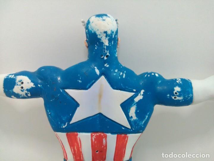Figuras de Goma y PVC: Figura flexible del Capitán América © 92 MARVEL, COMICS SPAIN - Foto 10 - 166772050
