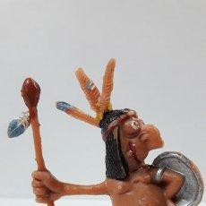 Figuras de Goma y PVC: GUERRERO INDIO . SERIE LOS BOYBIS . REALIZADO POR JECSAN . AÑOS 60. Lote 166792262