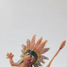Figuras de Goma y PVC: JEFE INDIO . SERIE LOS BOYBIS . REALIZADO POR JECSAN . AÑOS 60. Lote 166820002