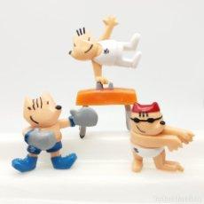 Figuras de Goma y PVC: LOTE 3 FIGURAS COBI, BARCELONA 92, JUEGOS OLÍMPICOS, NATACIÓN, BOXEO, GIMNASIA 1988. Lote 166828898