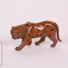 Figuras de Goma y PVC: FIGURA DE GOMA DE LAFREDO - LEOPARDO - ANIMALES DE LA SELVA - AÑOS 50-60. Lote 166911360