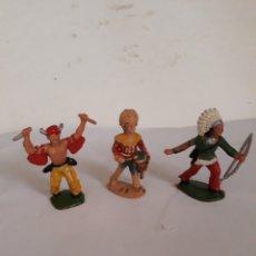 Figuras de Goma y PVC: REAMSA FIGURA TRES INDIOS. Lote 166913505