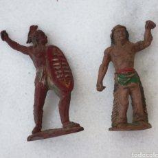 Figuras de Goma y PVC: PAREJA INDIOS GOMA PECH, JECSAN, REAMSA. Lote 166946629