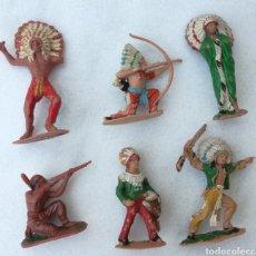 Figuras de Goma y PVC: LOTE INDIOS REAMSA, PECH, JECSAN AÑOS 60. Lote 166947298