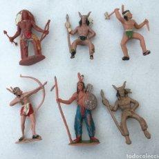 Figuras de Goma y PVC: MUÑECOS INDIOS GOMA REAMSA, PECH, JECSAN. Lote 166947593
