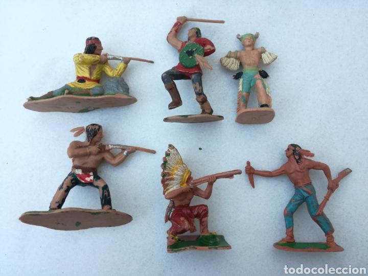 LOTE INDIOS REAMSA, PECH, JECSAN, GOMA (Juguetes - Figuras de Goma y Pvc - Reamsa y Gomarsa)
