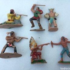Figuras de Goma y PVC: LOTE INDIOS REAMSA, PECH, JECSAN, GOMA. Lote 166948065