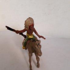 Figuras de Goma y PVC: FIGURA INDIO A CABALLO JECSAN,PECH,REAMSA. Lote 167005401