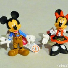 Figuras de Goma y PVC: PAREJA DE FIGURAS DE PVC DE MICKEY Y MINNIE BULLYLAND. NUEVAS COMPLETAMENTE. DISNEY. Lote 167046485