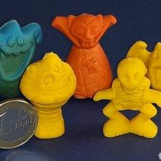 Figuras de Goma y PVC: MONSTRUOS MONSTERS DRÁCULA MOMIA VAMPIRO ESQUELETO FANTASMA, GOMA PREMIUM TIPO DUNKIN, AÑOS 70?. Lote 167076972