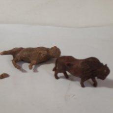 Figuras de Goma y PVC: FIGURAS BISONTES GOMA Y PLASTICO,JECSAN,PECH,REAMSA. Lote 167142872