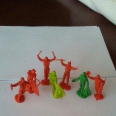 Figuras de Goma y PVC: LOTE DE 7 FIGURAS TOREROS AÑOS 60 .. Lote 167478232