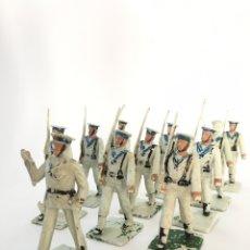 Figuras de Goma y PVC: 12 FIGURAS SOLDADOS DESFILE MARINEROS - MARINERO REAMSA. Lote 167510366