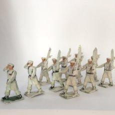 Figuras de Goma y PVC: CONJUNTO DE 11 SOLDADITOS EN PLÁSTICO. ESQUIADORES ALTA MONTAÑA DESFILANDO DE SOLDADOS REAMSA. Lote 167510982